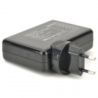 6 USB Ports Charging Adapter for Cell Phone - Black + Transparent (EU Plug / AC 100~240V)