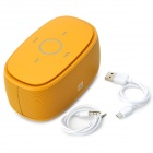 V3.0 Portable Bluetooth KINGONE K5 Bass 2-CH Président w / TF - Jaune