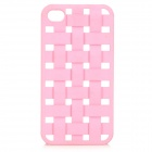 S-What Protective Mesh Style Plastic Back Case for IPHONE 4 / 4S - Pink