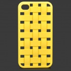 S-What Creative Mesh Style Plastic Back Case for IPHONE 4 / 4S - Yellow