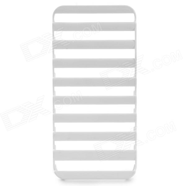 S-What Ladder Style Protective Plastic Case for IPHONE 5 / 5S - White ipsky cool style detachable back case for iphone 5 5s white reddish brown
