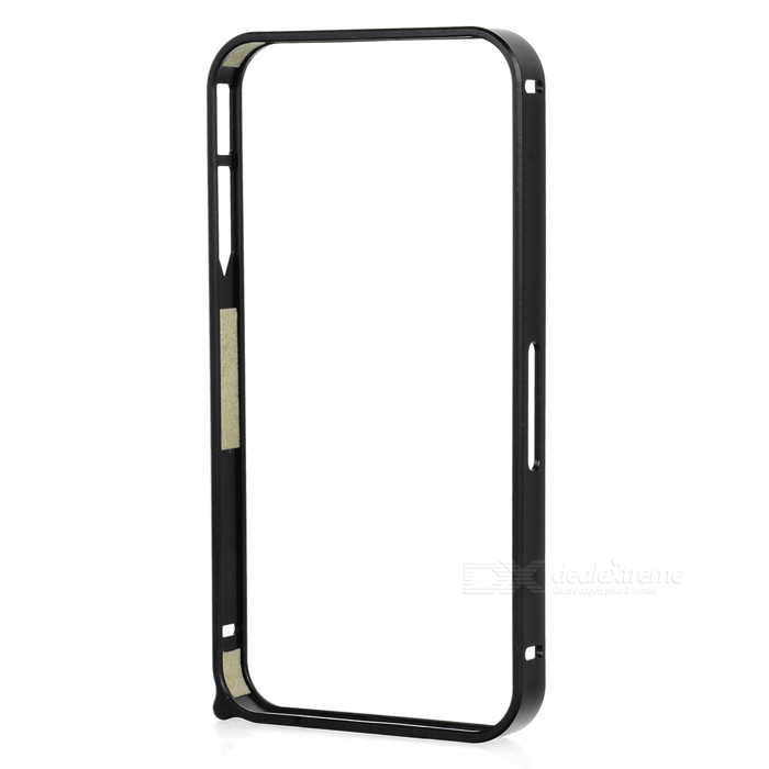 S-What Protective Aluminum Alloy  Bumper Frame for IPHONE 4 / 4S - Black s what ultrathin protective aluminum alloy bumper frame for iphone 4 4s black