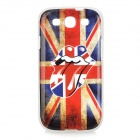 UK Flag Big Mouse Pattern TPU Back Case for Samsung Galaxy S3 / i9300 - White + Red + Multi-Colored