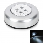 Car 9W 4-LED 15000MCD White Emergency Lamp - Silver (5V)