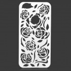 Hollow Out Rose Pattern Plastic Back Case for IPHONE 5 / 5s - White