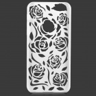 Hollow Out Rose patrón de plástico Volver caso para IPHONE 5 / 5s - Blanco