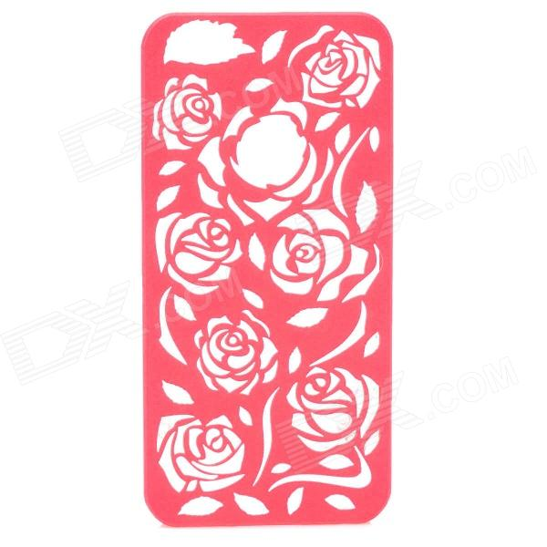 Protective Hollow Out Rose Pattern Plastic Back Case for IPHONE 5 / 5s - Red