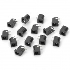 DIY DC Round Pin 2.1 Speaker Power Socket - Black (15PCS)