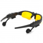 Universal Bluetooth V3.0 Stereo Polarized Sunglasses Support MP3 - Yellow + Black