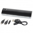 "Lson D5 Portable ""12000mAh"" Power Bank w / 8 LED pour iPhone - Noir"