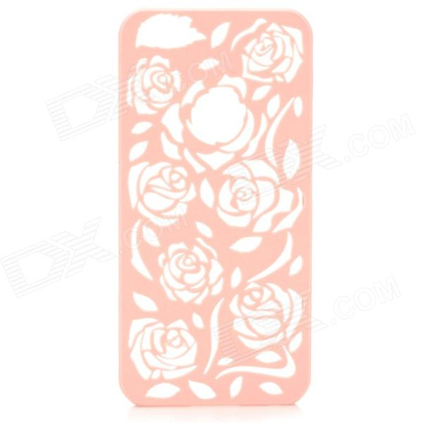 Hollow Out Rose Pattern Plastic Back Case for IPHONE 5 / 5s - Pink