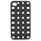 Protective Hollow Out Rose Pattern Plastic Back Case for IPHONE 4 / 4S - Black