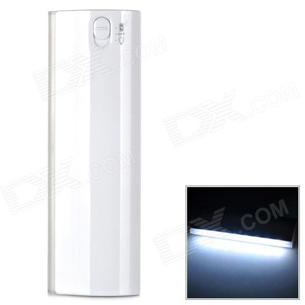 LSON D5 Portable 12000mAh Power Bank w/ 8-LED for IPHONE - White portable 6000mah power bank w flashlight for mobile tablet pc more pink white