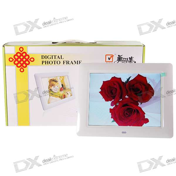"8"" Wide Screen TFT LCD Digital Photo Frame with Remote and SD/MMC/MS/XD/USB Slots (800*480px)"