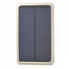 LSON Portable 4000mAh Solar Power Bank for IPHONE / IPAD - Golden + Black