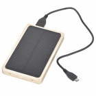 LSON Portable 4000mAh Solar Power Bank para IPHONE / IPAD - Oro Negro +