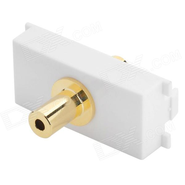 3.5mm Audio Gold Plating Plug Module - White + Golden gold plated banana plug jack connector set golden 3 5mm 10 pairs