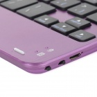Y-MINI6 Portable Lightweight Bluetooth v3.0 59-Key Keyboard for IPAD MINI 1 - Purple + Black