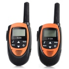 Sino T228 0.5W 462MHz 22-Channel Mini Walkie Talkie - laranja + preto (2 PCS / 3 x AAA)