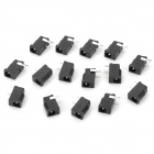 DIY DC Earphone Power Socket - Black (15PCS)