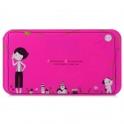 "VBS110 2.5"" Screen Mini Digital Body Scale - White + Deep Pink (1 x CR2032)"