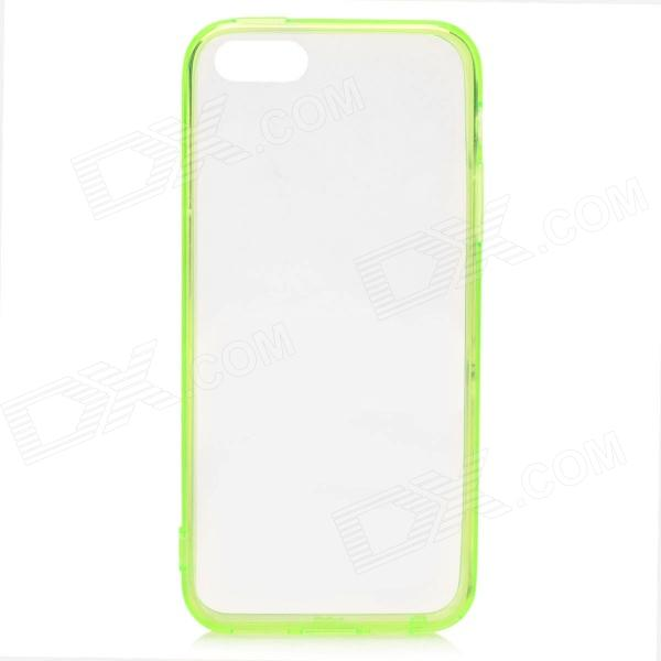 S-What Protective TPU Back Case w/ Anti-Dust Plug for IPHONE 5 / 5S - Translucent Green 2016 creative european cup belgian flag pattern square shape flax cushion cover