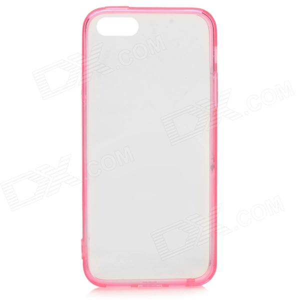 S-What Protective TPU Back Case w/ Anti-Dust Plug for IPHONE 5 / 5S - Translucent Pink protective pc tpu back case for iphone 5 w anti dust cover deep pink light pink