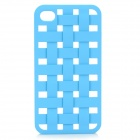 S-What Protective Mesh Style Plastic Back Case for IPHONE 4 / 4S - Blue