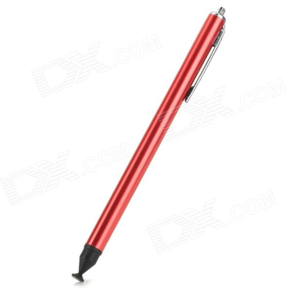 Aluminum Alloy Stylus Pen w/ Suction Cup for IPHONE - Red