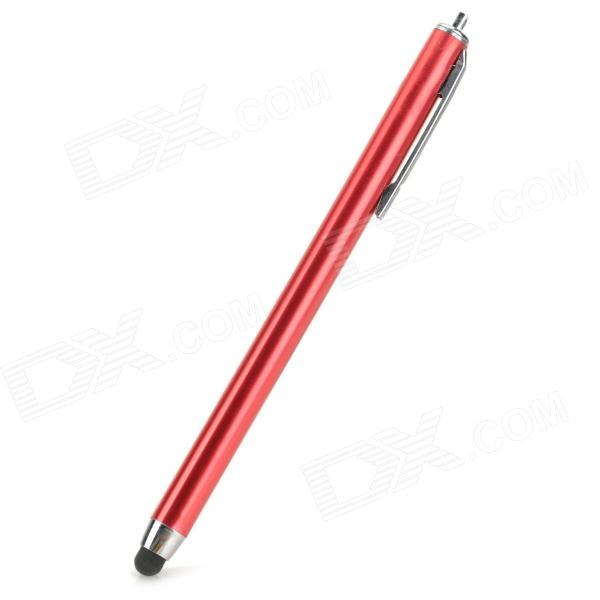 Aluminum Alloy Stylus Pen w/ Clip for IPHONE - Red