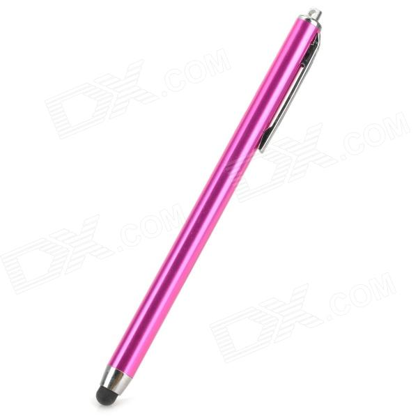 Aluminum Alloy Stylus Pen w/ Clip for IPHONE - Deep Pink