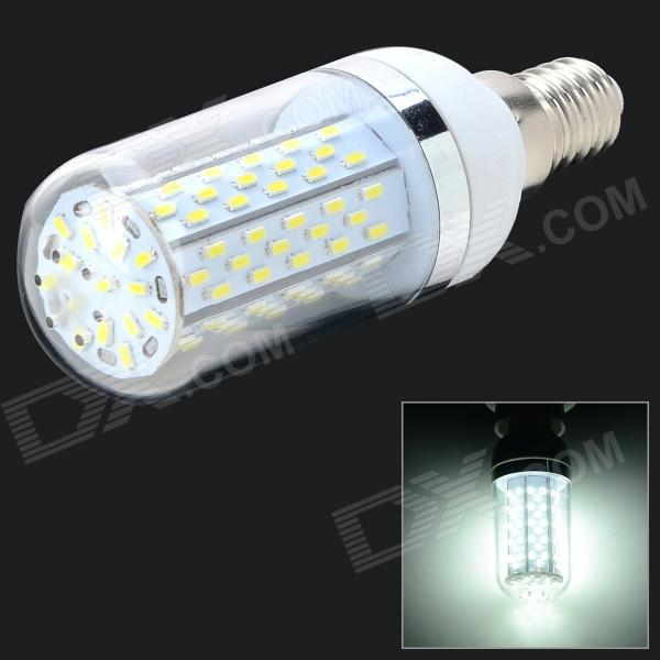 E14 7W 472lm 6500K 120-3014 SMD LED White Light Lamp - White + Silvery Grey (AC 85~265V)