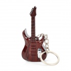 Creative Guitar Style 2-LED White / Red Flashlight Keychain - Brown