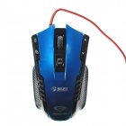 Tencent Games X-KNIGHT DPI Switch Cool Shaoow Macro Definition Optical Mouse  Black + Blue