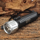 FITECH F6 LED 180lm 2-Mode Warm White Diving Flashlight - Black + Silver (1 x 18650)