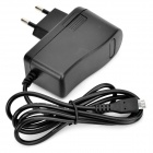 QUICKMAN B09 Universal AC Power Charger Adapter w/ Micro USB Cable - Black (EU Plug / 100~240V)