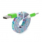 Flat Micro USB Male to USB 2.0 Male Data Sync / Charging Cable for Samsung + More - (100cm)