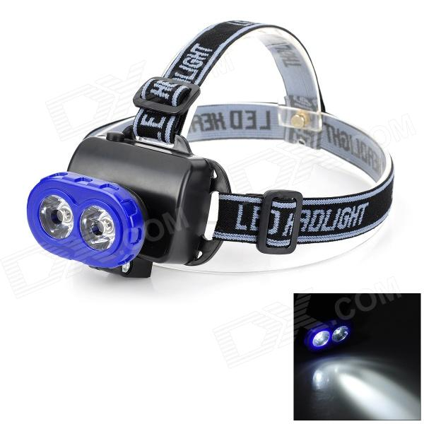 LSON LL-538 5W 2-LED 30lm 1-Mode White Headlamp - Blue + Black (3 x AA)  цена