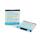 "Replacement Dual Battery Cells ""2100mAh"" 3.7V Li-ion Batteries for HTC Sensation G14 - White (2 PCS)"