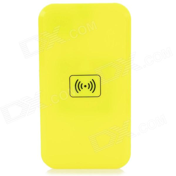 S4-QIA Qi Standard Wireless Charger + Wireless Charger Receiver for Samsung Galaxy S4 - Yellow 5v 1000ma qi wireless charger for samsung galaxy s3 mini i8190 i8160 black