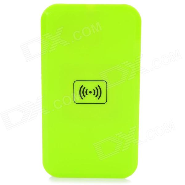 S4-QIA Qi Standard Wireless Charger + Wireless Charger Receiver for Samsung Galaxy S4 - Green 5v 1000ma qi wireless charger for samsung galaxy s3 mini i8190 i8160 black