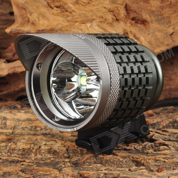 WindFire 3-LED 1200lm 3-Mode White Light Bicylce Headlight - Dark Grey (4 x 18650) led 5001 9w 450lux 3 led video lamp dark grey