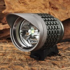 WindFire 3-LED 1200lm 3-Mode White Light Bicylce Headlight - Dark Grey (4 x 18650)