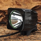 Square Shape Cree XM-L T6 600lm 3-Mode Cool White Light Bicycle Head Light - Black (4 x 18650)