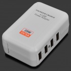 Adaptador AC Cargador 4-Power USB adaptador w / 4-Plug para IPHONE / IPAD + Más - blanco (100 ~ 240V)