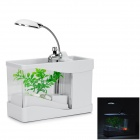 918 USB Powered Mini Aquarium Fish Tank - White + Transparent