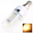 E14 8W 180lm 2500K 27 x SMD 5630 LED Warm White Light Lamp Bulb - White (AC 220~240V)