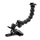 PANNOVO Jaws Flex Magisk Joint Clamp Mount for GoPro Hero 4/3 + / 3/2/1 - Svart