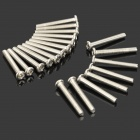 Stainless Steel Cross Recess Head Screw - Silver (20 PCS)