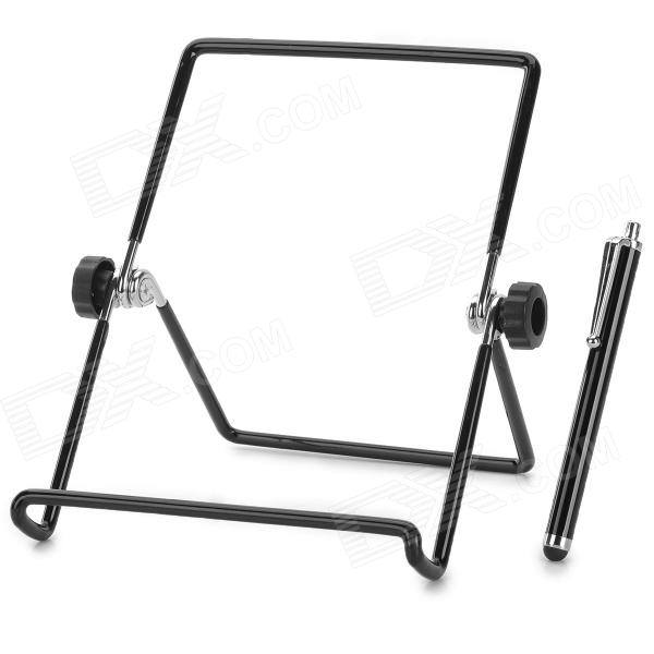 Universal Alloy Holder Stand w/ Capacitive Screen Stylus for Samsung 6~10 aluminium alloy headset stand holder